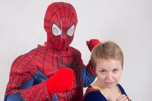 Аниматоры Человек-паук и супергерл в Краснодаре
